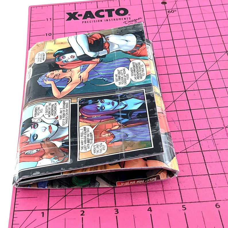 Cool Women/'s Mini Clutch Bag Gift for Her Upcycled Comic Book Purse Harley Quinn Wallet Nerdy Girl/'s Gifts Unique Wallets for Women