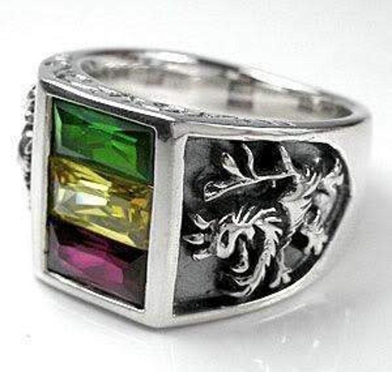 Silver Lion Ring Men's Silver Ring Lion of Judah Rasta image 0