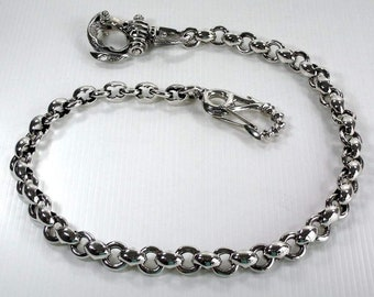 Wallet Chain, Sterling Silver Wallet Chain, Custom Biker Chain for Wallet, Men's Wallet Chain by SterlingMalee