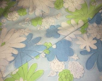 Vintage Mod Floral Pillowcases Pair