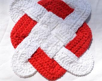 Crocheted Cotton Celtic Knot Trivet/Pot holder/Hot Pad - FINISHED