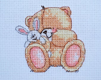 Forever Friends - New Arrival - Finished Counted Cross Stitch - Free Personalization