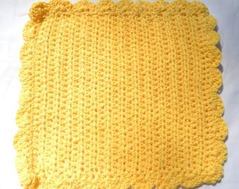 Crocheted Cotton Washcloth/Dishcloth - FINISHED