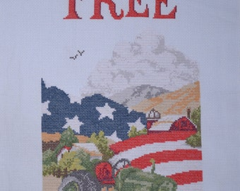 Land of the Free - FINISHED counted cross stitch