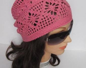 Summer Slouchy Beanie Hat, Crochet Slouchy Beanie, Women Slouchy Sun Hat, Spring Slouchy Hat Slouchy Women Beanie Knitted Slouchy Beanie