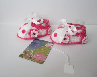 Baby Flower Car Booties Shoes, Crochet Flower Baby Booties, Crochet Baby Car Booties, Crochet Baby Girl Shoes, Crochet Baby Girl Booties