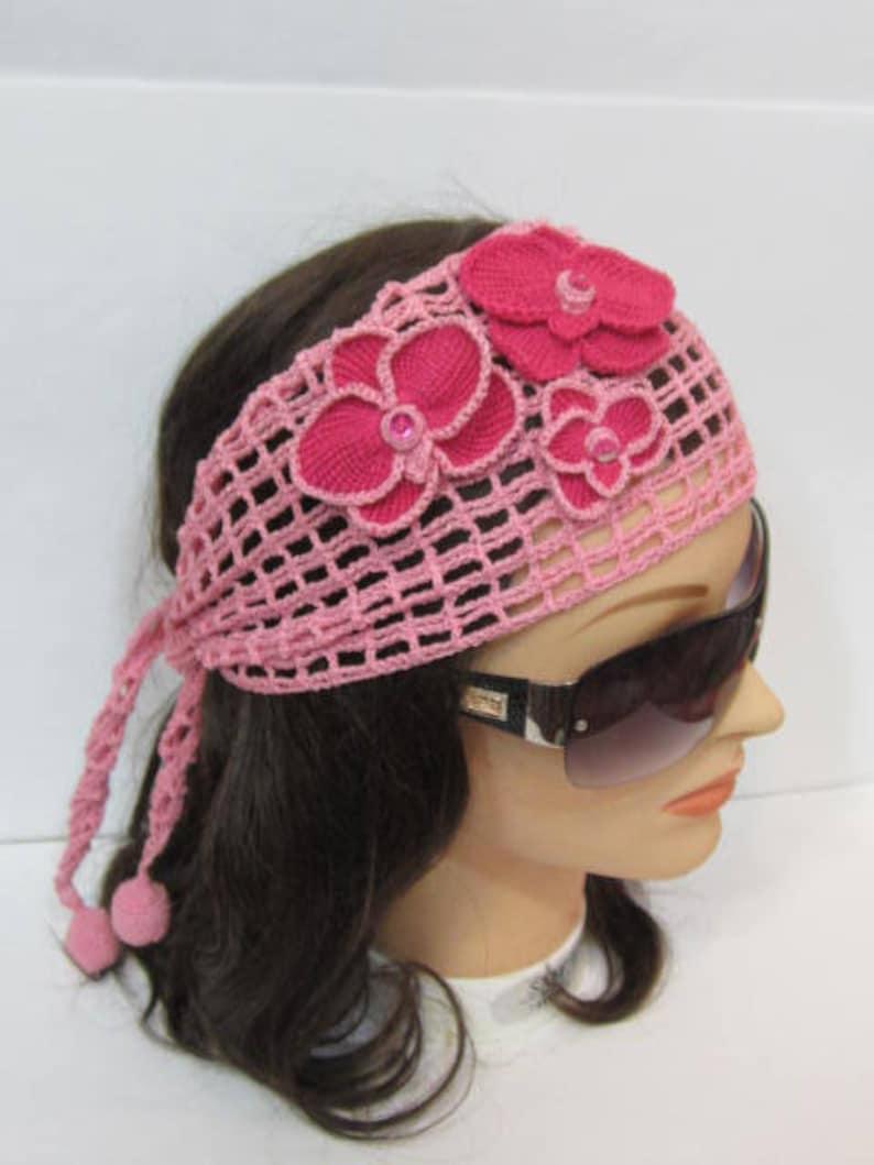 625916c55fbe Crochet Summer Head wrap Headband Women Boho Head scarf
