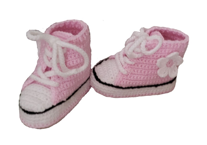 e853c005468b Baby Girl Sneakers Booties Converse Baby Shoes Baby Girl