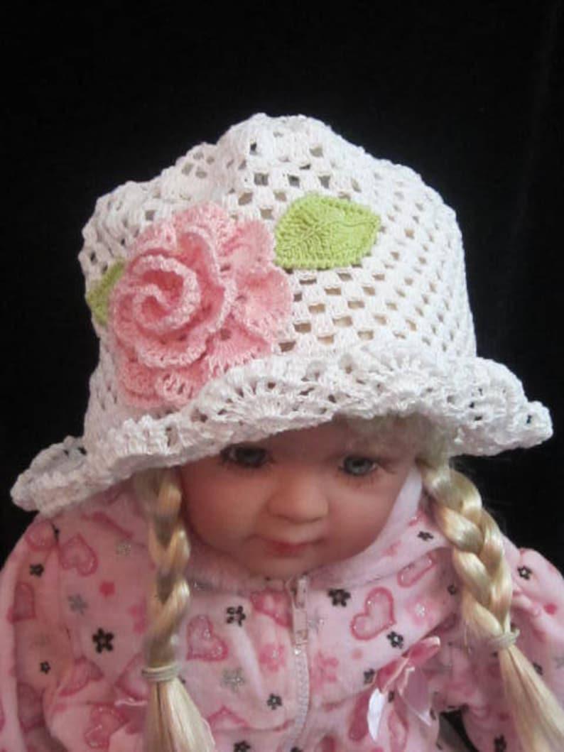 de6f6159a64 Crochet Panama Sun Hats Crochet Girls Cloche Panama Hats