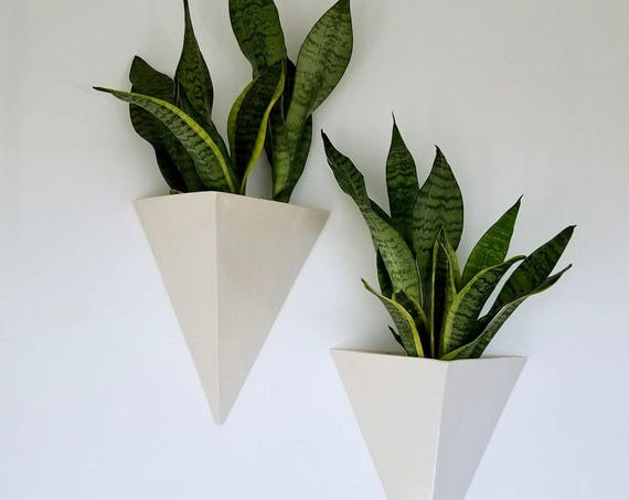 Ceramic Wall Hanging Planter Box