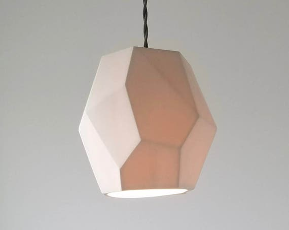 Geometric Porcelain Pendant Light, Modern Lighting