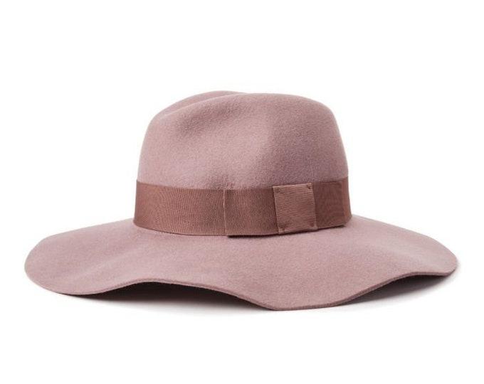 Brixton Piper Hat - Mauve Size Small