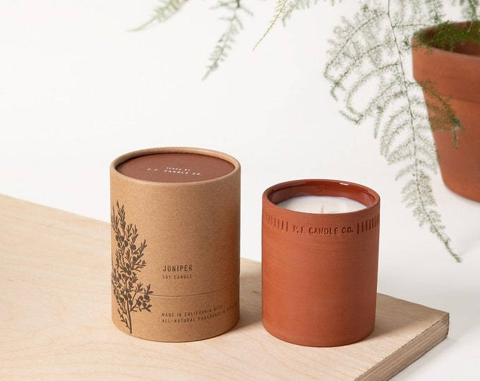 Juniper Standard Terra Candle by P.F. Candle Co.