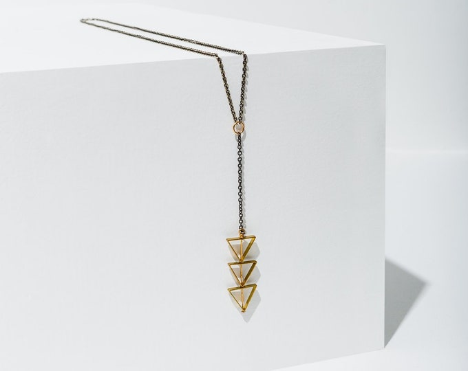 Tri-Cut Necklace by Larissa Loden