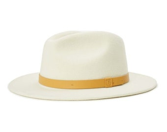 Brixton Messer Fedora Ivory/Natural Size Medium