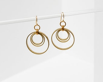 Concentric Circle Earrings by Larissa Loden