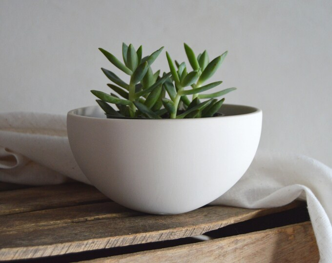 Modern Ceramic Planter, small round tabletop planter for succulents, vines, three inch plants