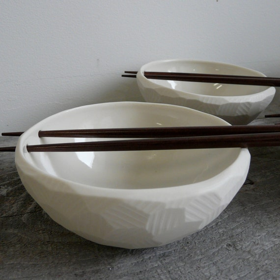 Porcelain Chopstick Rice Bowl, Chopsticks Included, Size Small Rice Bowl