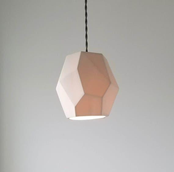 Geometric Porcelain Pendant Light, Modern Lighting