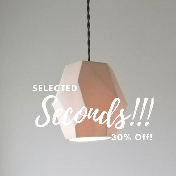 Seconds geometric porcelain pendant light modern lighting etsy image 0 aloadofball Choice Image