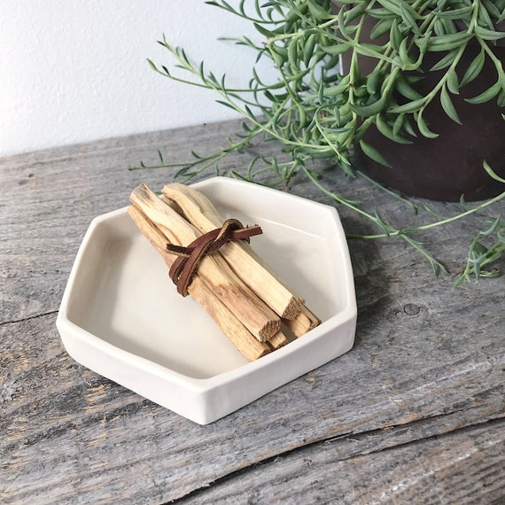Palo Santo Sticks with Porcelain Hexagon Burning Tray