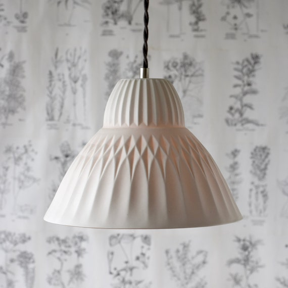 Sofia Porcelain Pendant Light, Modern Lighting Design, Translucent Porcelain Lighting