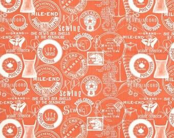 Quilting Treasures Queen of We/'en 25967 O Pumpkin Stripe Silho Cotton Fabric BTY