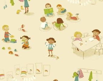 Windham - Kinder by Heather Ross - Kindergarten - Cream
