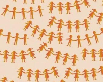 Windham - Kinder by Heather Ross - Paper Dolls - Orange