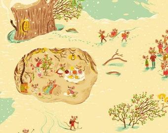 Windham - Sugarplum by Heather Ross - Christmas Mice - Cream