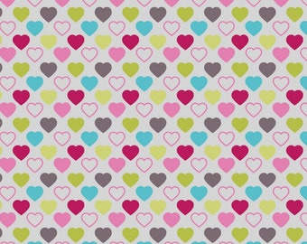 STOF Fabrics by Blank Quilting - Quilter's Basic Harmony - Hearts - Multi