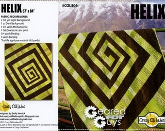 Helix Quilt Pattern by Crazy Old Ladies
