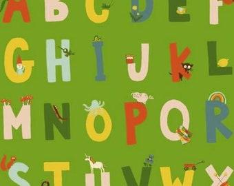 Windham - Kinder by Heather Ross - Alphabet - Green