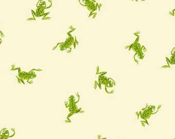 Windham - Kinder by Heather Ross - Frogs - White