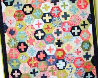 Hex-Plus Quilt Pattern by Crazy Old Ladies