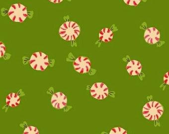 Windham - Sugarplum FLANNEL by Heather Ross - Peppermints - Green