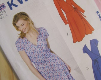 Uncut Kwik Sew Sewing Pattern 3489  -  Misses Dresses - Size XS - XL