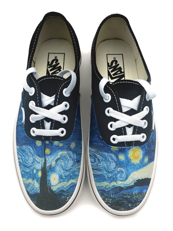 Ofensa acero Inválido  Van Gogh Starry Night Authentic Custom Vans Brand Shoes | Etsy