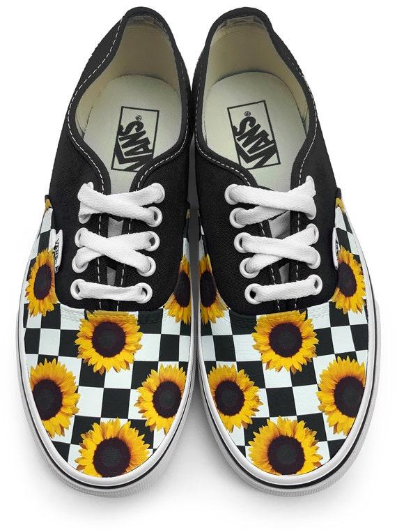 Checkerboard Sunflower Authentic Custom