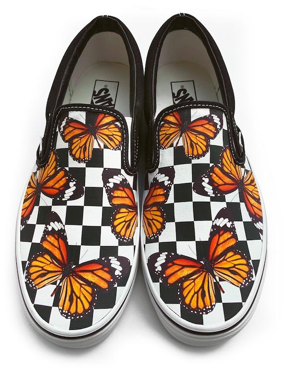 Checkerboard Monarch Butterfly Custom