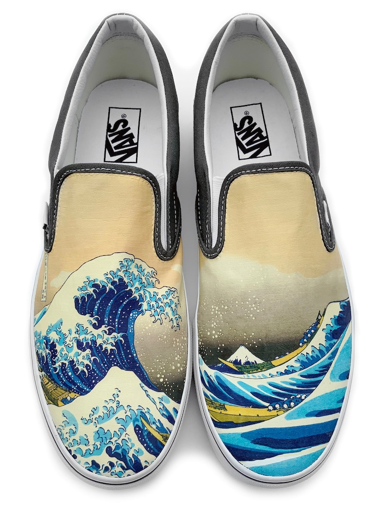 d699c5a31 The Great Wave Slip-on Vans Brand Shoes