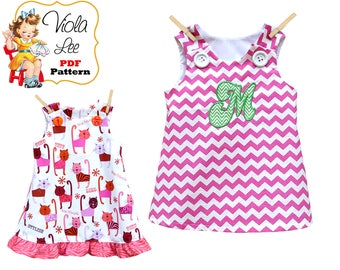 A-line Jumper Pattern, Girl's Dress Pattern, pdf Dress Pattern, Aline Dress Pattern, Toddler Dress Pattern, Infant Dress, Tutorial Joleen