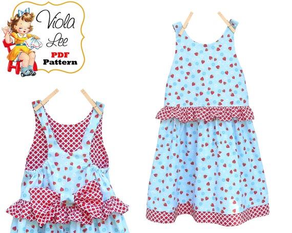 Easy Sewing Patterns Girls Summer Sundress Girls Dress Etsy Magnificent Easy Sewing Patterns