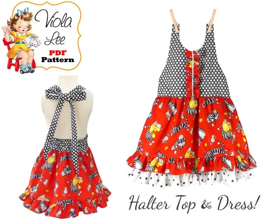 fe83bf9268a5 Girls Dress Pattern Girls Halter Top Pattern Girls pdf