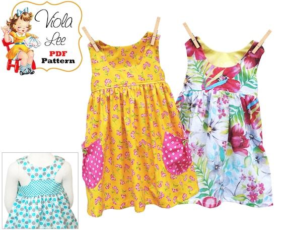 aad10526a133 Toddler Summer Sun Dress. PDF Sewing Patterns. Girls Dresses.
