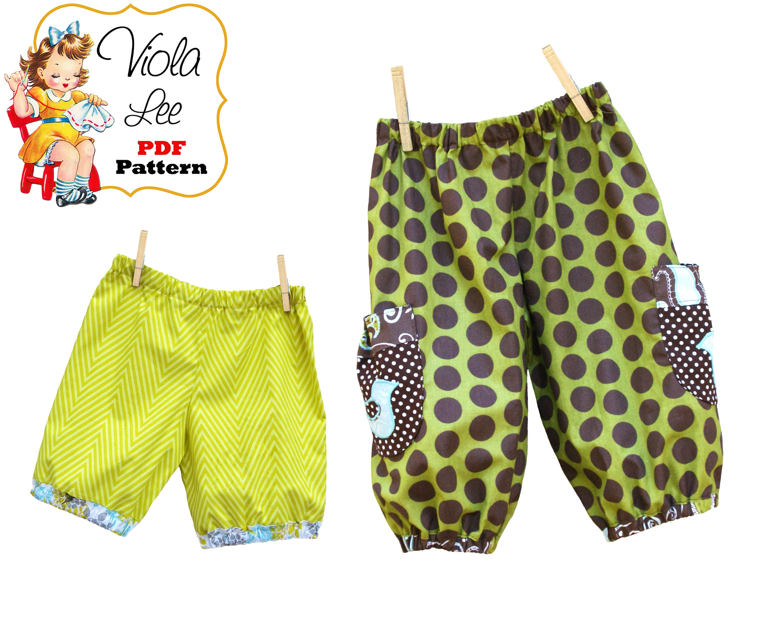 Girls Pants Pattern. Girls Shorts Pattern. PDF Girl Sewing   Etsy