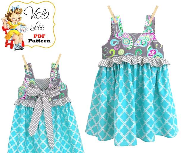 Sewing Patterns Girls Summer Dresses Girls Dress Pattern Etsy