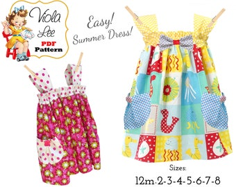 Easy Summer Dress Sewing Pattern. Perfect Beach Dress. Summer Sundress & Top Pattern.  Instant Download Digital PDF Pattern. Mindy