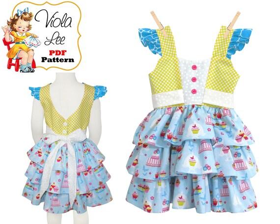 a236d6e8a0b7 Girls Dress Pattern pdf Girls Clothing Sewing Pattern