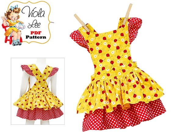 Girls Dress Baby Romper Pattern Sewing Patterns For Babies Etsy